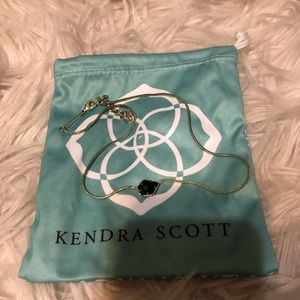 Kendra Scott Black and Gold Pendant Necklace